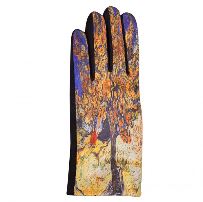 Manusi dama, textil cu imprimeu inspirat din pictura celebra [1]