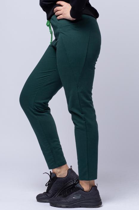 Pantaloni sport verzi,din bumbac, cu buzunare laterale [1]