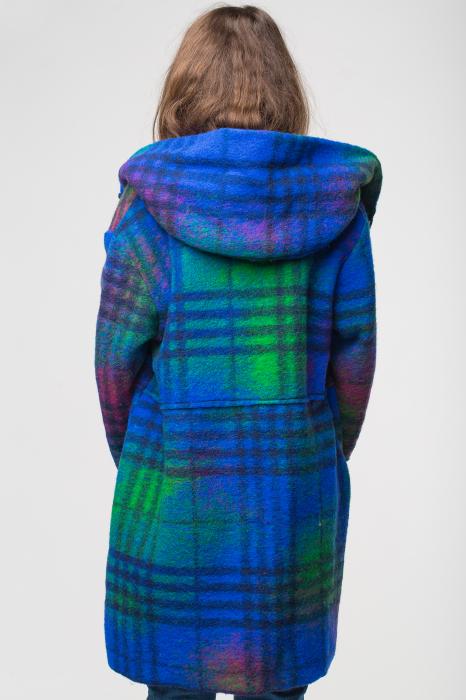 Palton captusit lana ecosez predominant albastru 1