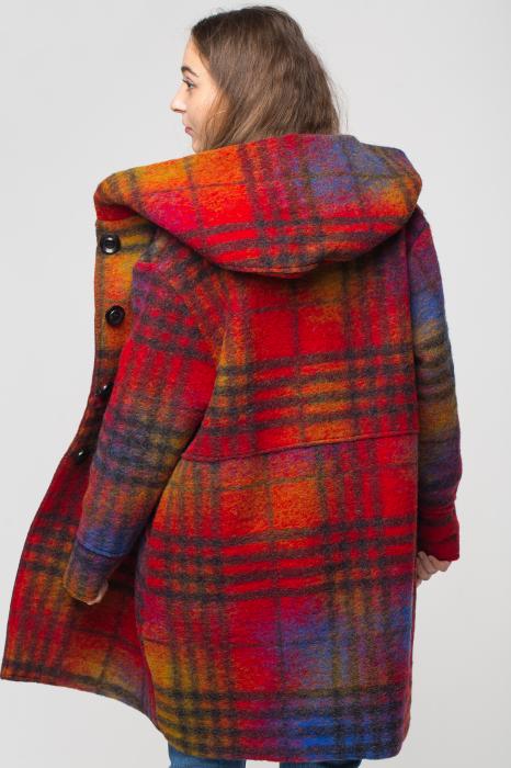 Palton captusit lana ecosez predominant rosu 1