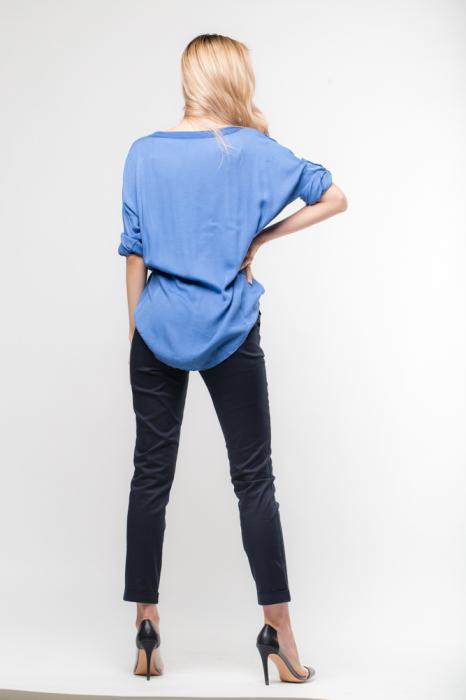 Pantaloni bleumarin office, curea inclusa [2]