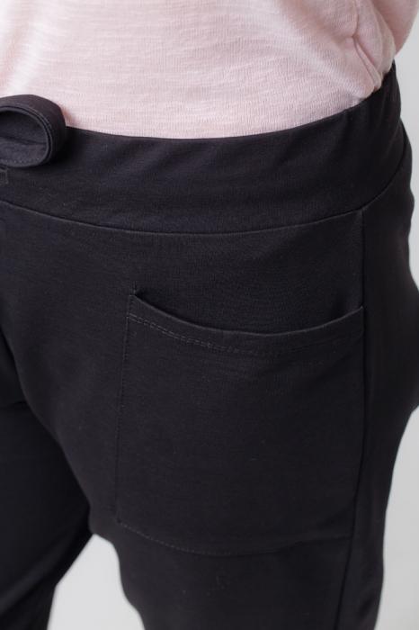 Pantaloni negri casual sport 3
