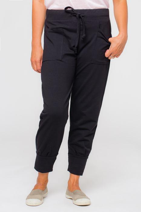 Pantaloni negri casual sport 4