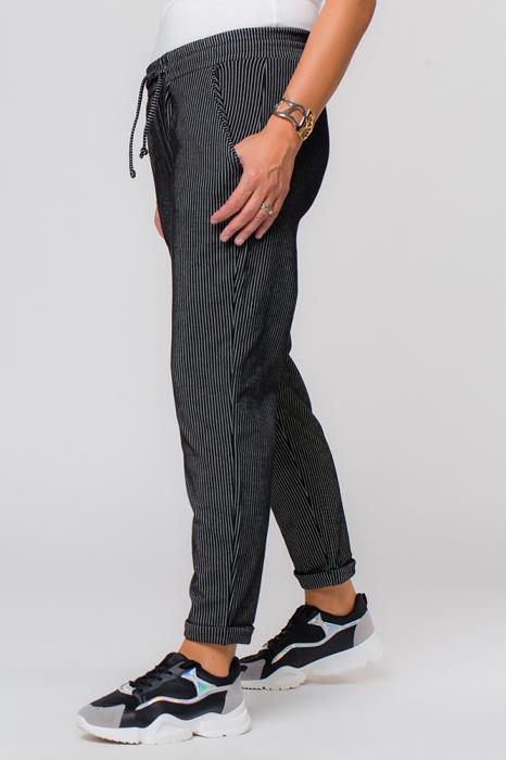 Pantaloni negri cu dungi albe casual sport [1]