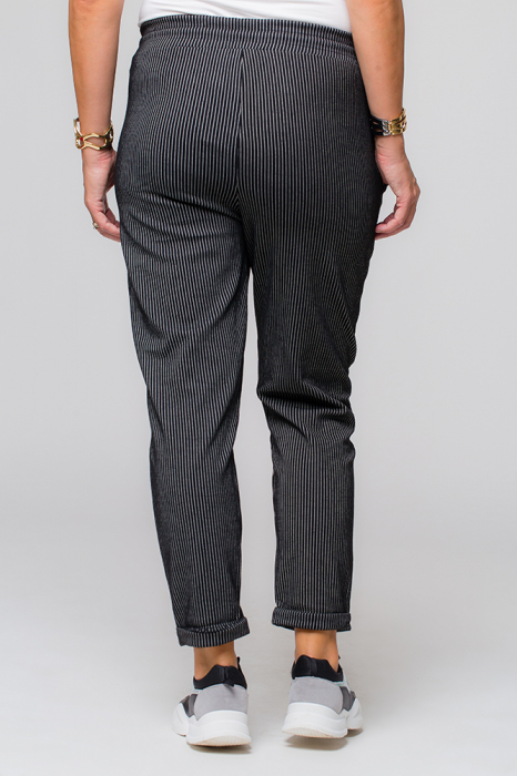 Pantaloni negri cu dungi albe casual sport [2]