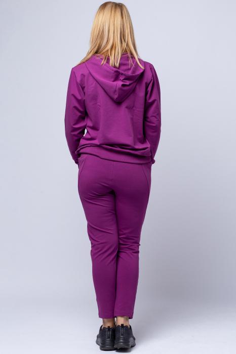 Pantaloni sport din bumbac cu buzunare laterale, din bumbac, mov [2]