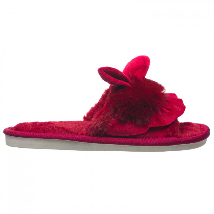 Papuci de casa bordo cu decoratiune urechi de iespuras 0