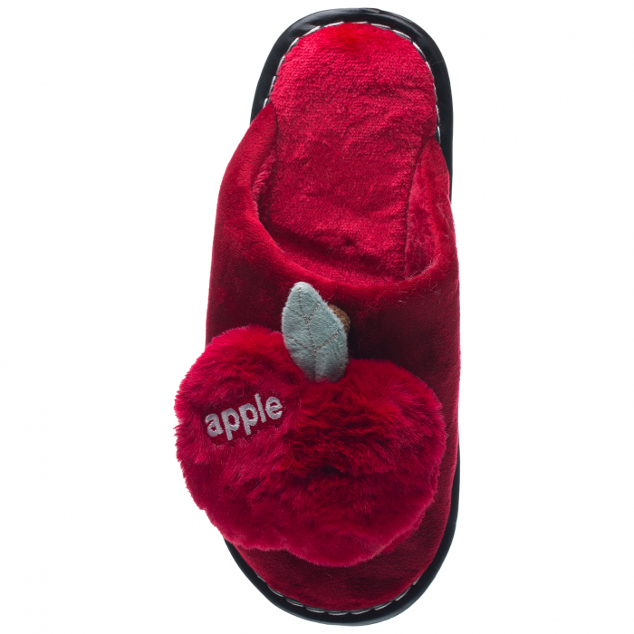 Papuci de casa bordo decoratiune Apple 1