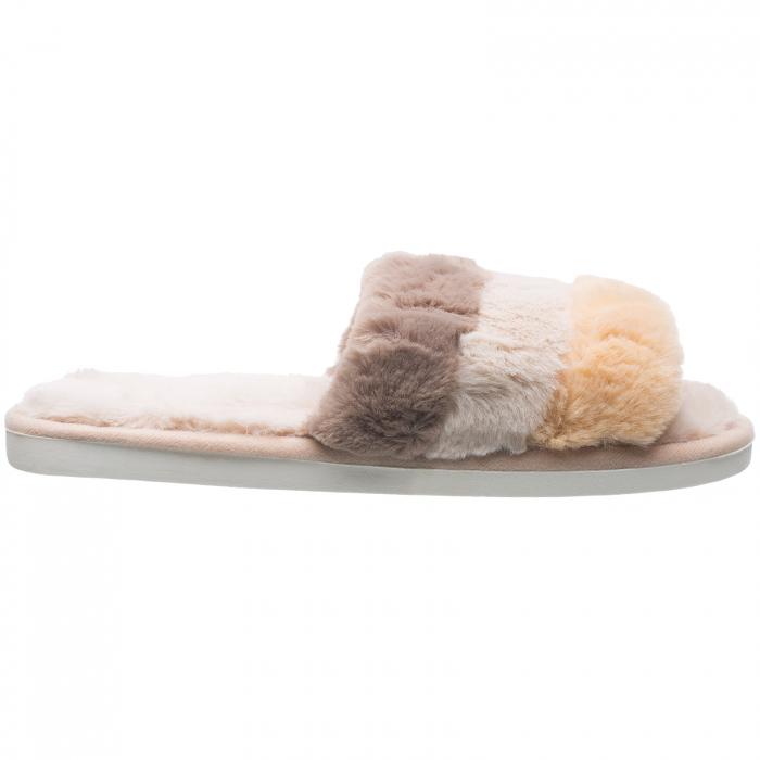 Papuci de casa cu trei culori (maro, bej, galben) [0]