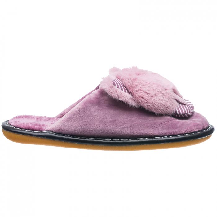 Papuci de casa lila cu decoratiune animalut [0]