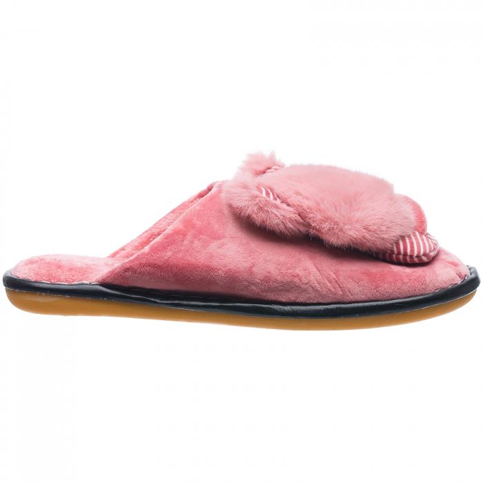 Papuci de casa roz cu decoratiune animalut [0]