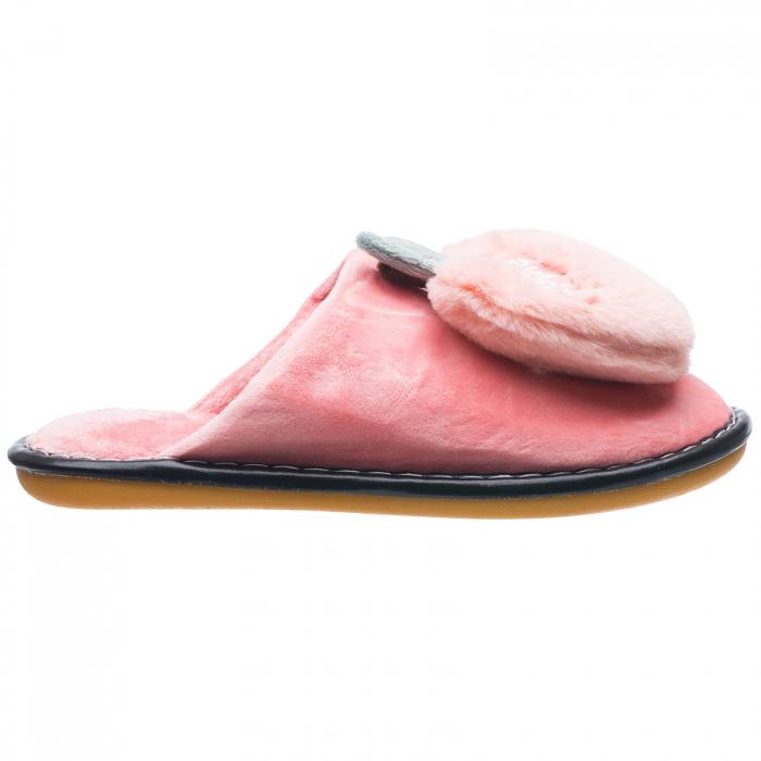 Papuci de casa roz cu decoratiune Apple [0]