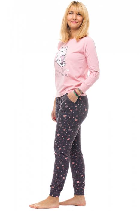 Pijama bumbac doua piese `pisica jucausa` 1