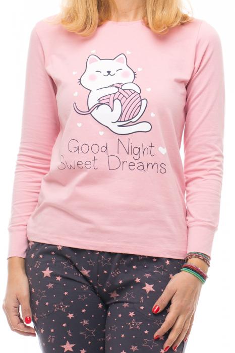 Pijama bumbac doua piese `pisica jucausa` 3