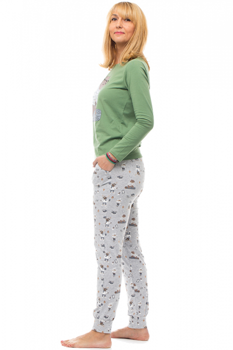Pijama bumbac doua piese `urs cu ochelari` 1