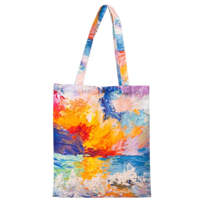 Geanta shopper din material textil, imprimeu inpirat dintr-o pictura moderna [0]