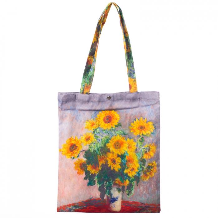 """Geanta textila, imprimeu inspirat dupa pictura """"Floarea Soarelui"""" a celebrului Van Gogh 0"""
