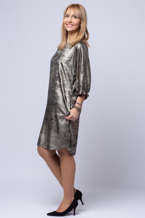 Rochie eleganta, bej cu patina aurie [1]