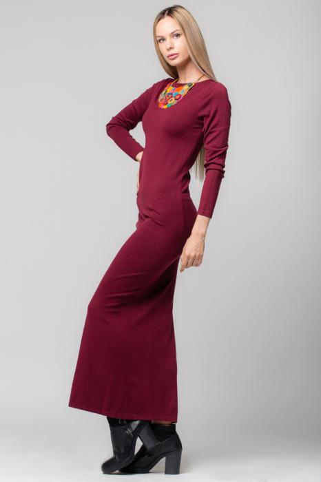 Rochie bordo lunga tricotata 1