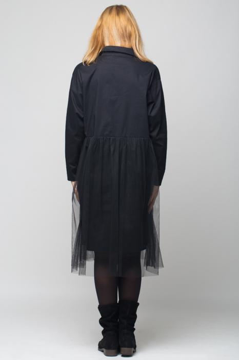 Rochie camasa lunga neagra cu tul 2