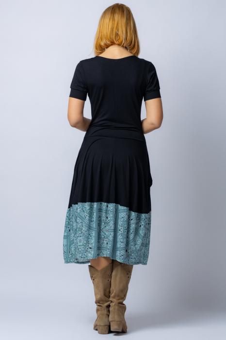Rochie lalea cu terminatie din vascoza turcoaz [2]