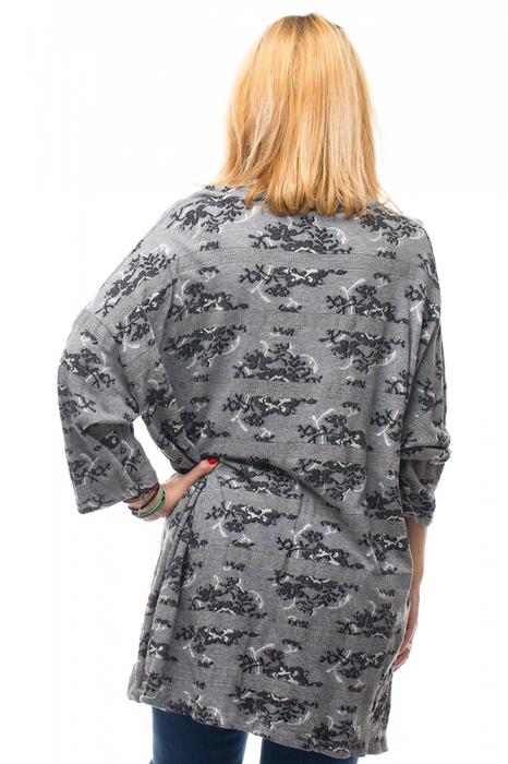 Rochie pentru colanti gri oversize din bumbac 2