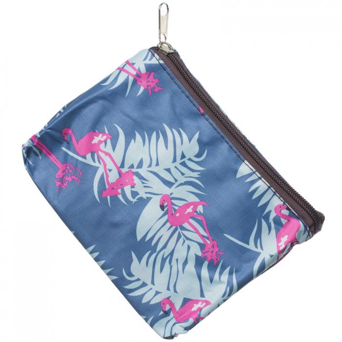 Sacosa imprimeu flamingo pliabila pentru cumparaturi 1