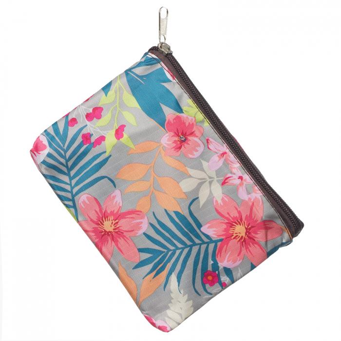 Sacosa de cumparaturi pliabila cu imprimeu flori roz [1]