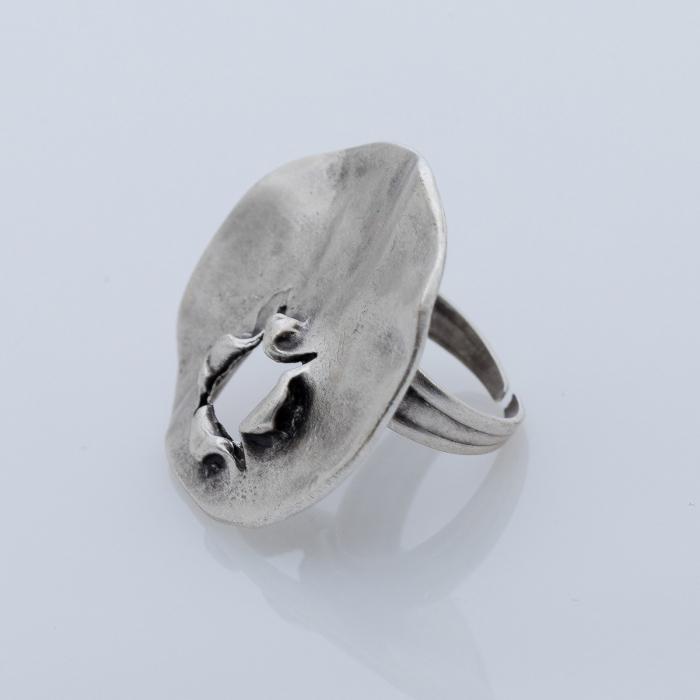 Set cercei si inel din zamac cu forma rotunda [1]