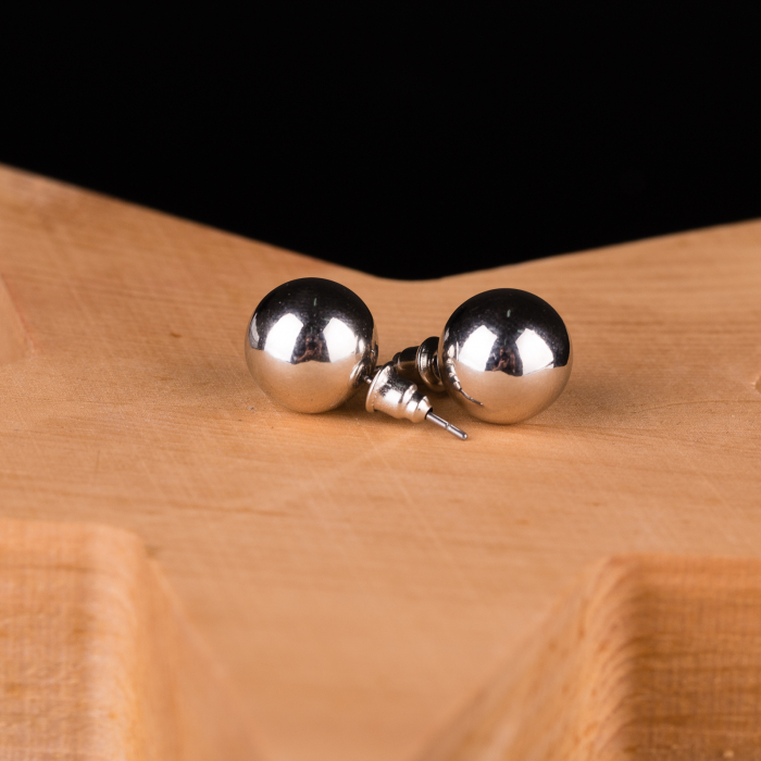 Set cercei si lant argintiu,lung, cu pandantiv rotund cu aspect lovitura de ciocan [2]