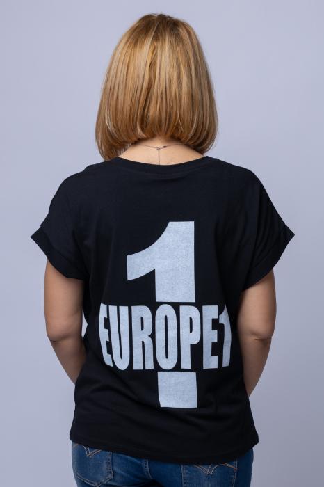 Tricou negru cu imprimeu `BE MORE LIKE YOU`, din bumbac [2]