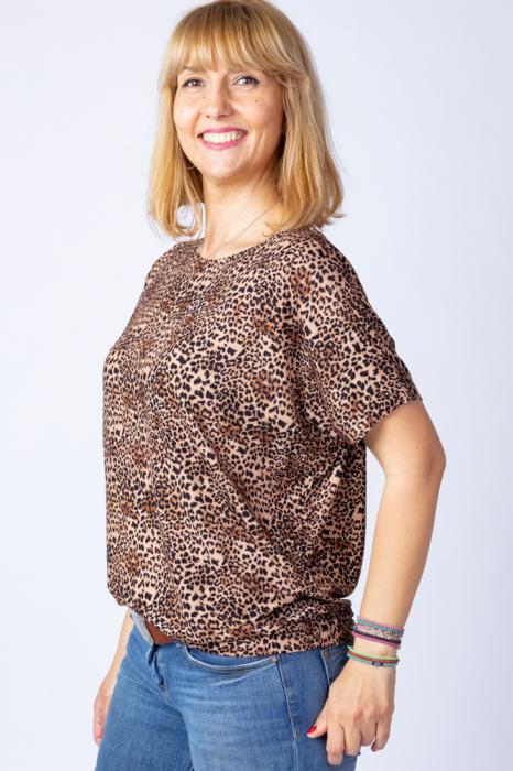 Tricou din vascoza cu imprimeu animal print - leopard [1]