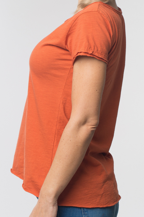 Tricou portocaliu din bumbac cu maneca scurta [1]