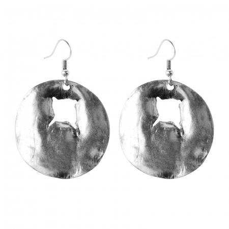Cercei din zamac in forma de cerc cu gaura neregulata [1]