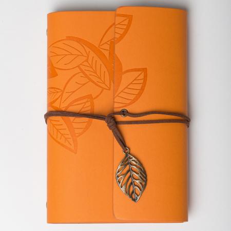 Agenda retro mustar, invelis din piele ecologica, 11 x 15 cm [0]