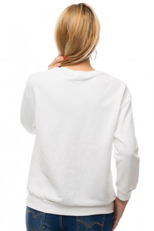 Bluza alba din tricot plin cu aplicatii de catifea si perle2
