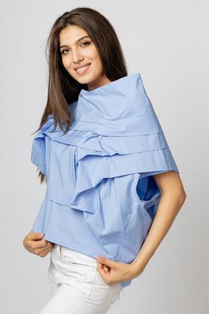 Bluza bleu asimetrica, extravaganta [1]