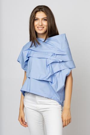 Bluza bleu asimetrica, extravaganta [0]