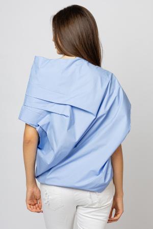 Bluza bleu asimetrica, extravaganta [2]
