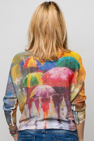 Bluza cu maneca fluture si imprimeu umbrele [2]