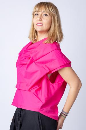 Bluza fucsia asimetrica, extravaganta1