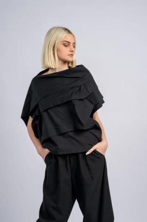 Bluza neagra asimetrica, extravaganta [0]