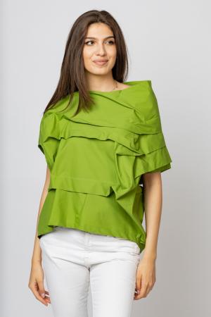 Bluza verde asimetrica, extravaganta [0]