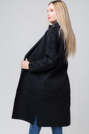 Cardigan negru gros casual2