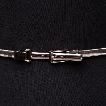 Curea metalica catarama 3 gauri argintie [1]