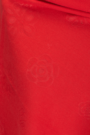 Esarfa cashmere dreptunghiulara rosie cu modele embosate [1]