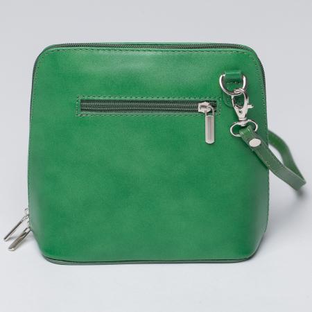 Geanta crossbody, verde, din piele naturala [1]