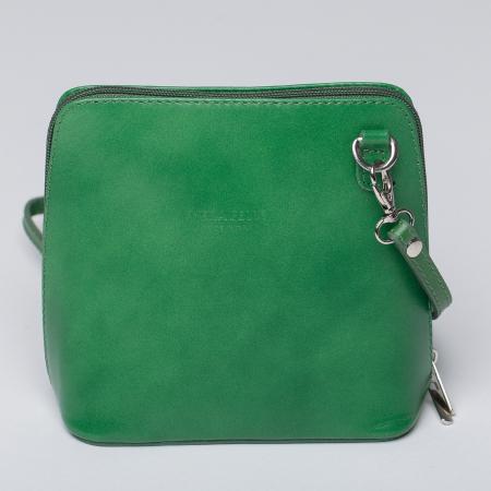 Geanta crossbody, verde, din piele naturala [0]