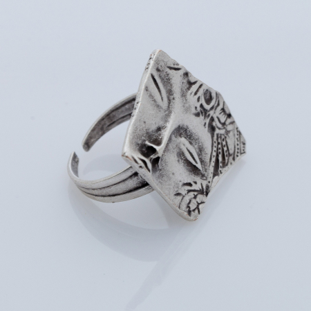 Set cercei si inel din zamac cu desing fantezist [2]