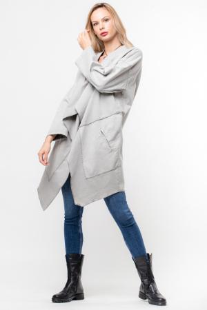 Jacheta gri inchis in colturi cu imprimeu stea pe spate1
